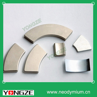 Top sale strong ndfeb arc magnets for motorcycles