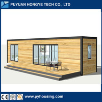 2016 New Creative Design One Bedroom One Living Room Mobile Modular 40ft HQ Container House