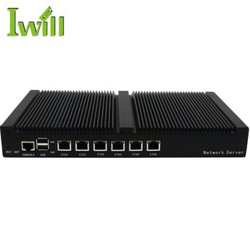 Network security NS-1U6L (FL 1037U) fanless desktop barebone firewall pc