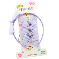 619 Ribbon bow rope infant headband grils hair hoop baby hairband