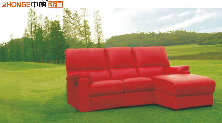 Modern style genuine leather living room furniture sofa 8126#