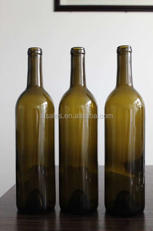 UNIQUE WINE BOTTLES 750ML ANTIQUE GREEN BORDEAUX