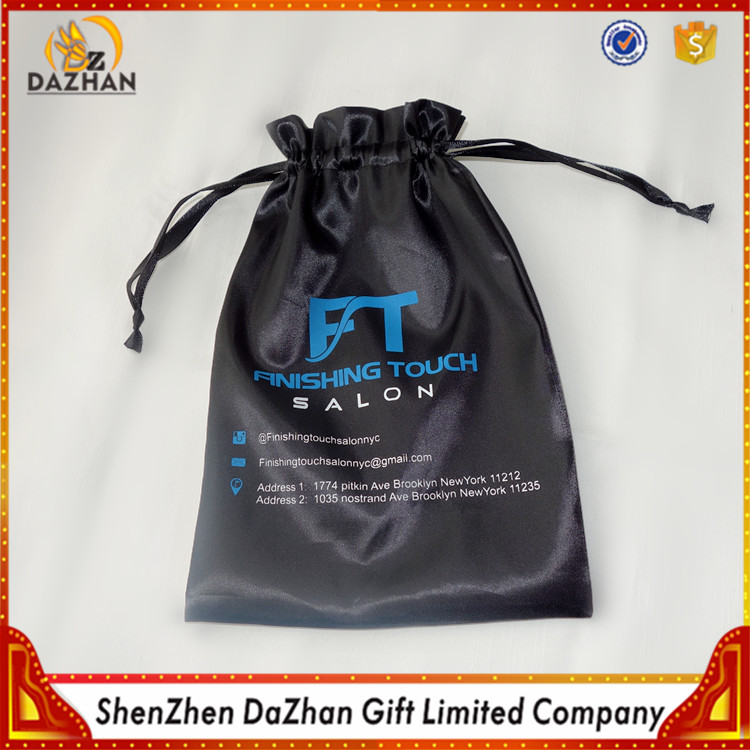 Best Selling Black Custom Satin Sex Toys Bag With Logo