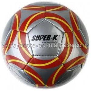 metal and laser football/soccer ball made of TPU//PVC/PU/neoprene