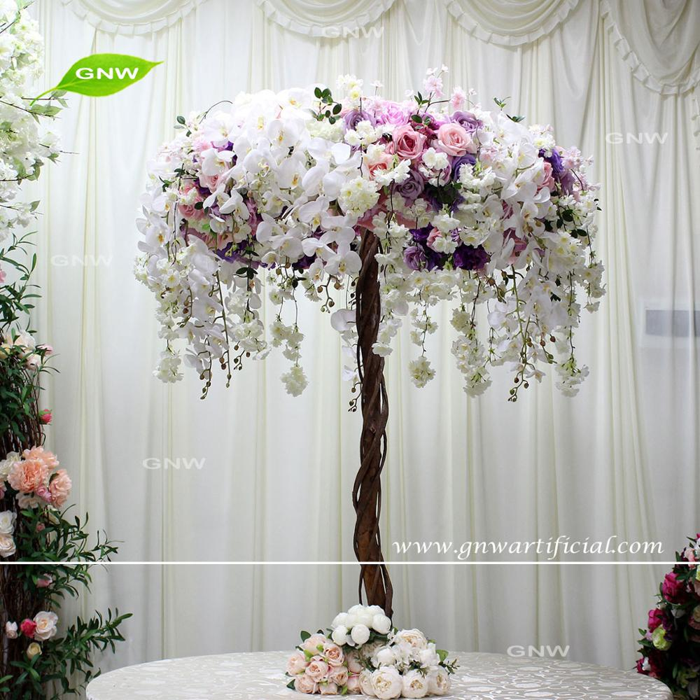 GNW Colorful new fashion wedding table orchid centerpieces