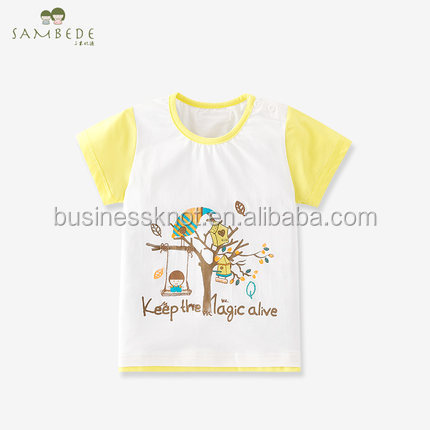 SAMBEDE 2017 Hot Sale Baby Boys Summer Short Sleeve Cotton T-shirt SM7X30083