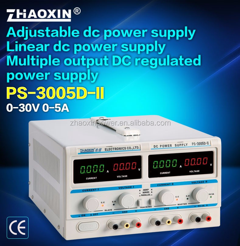 PS-3005D-II ZHAOXIN Triple output linear adjustable dc power supply with CE approved