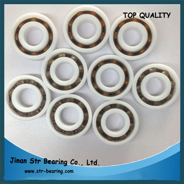 POM plastic pulley bearing 6003 with glass balls bearing