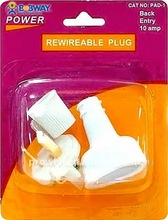Back Entry Rewireable Plug