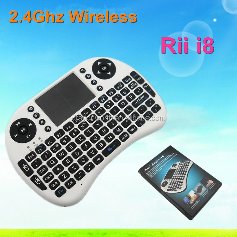 2015 hot sale Rii Mini i8 Keyboar fly mouse 2.4G Wireless 2.4G Wireless Rii Mini i8 Keyboard For PC, Pad, Android TV Box From RO