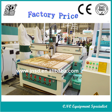 Hot sale SD-1325 Plate/Office Wood Furniture Hobby 3D CNC Router