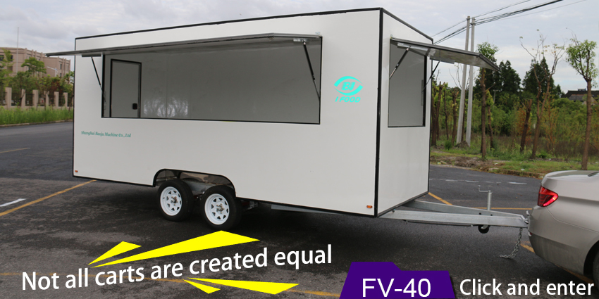 BAOJU FV-52 BNew model mobile BBQ food trailer for sale fast BBQ food trailer with wheels new BBQ food trailer vending