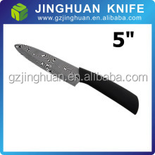 Popular Color Handle High Quality 5inch Ceramic Knife