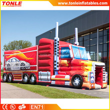 Inflatable Monster Truck Combo for kids, Inflatable Fire Fighting Truck, Inflatable Castle with Slide for sale