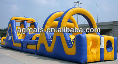 Outdoor playground inflatable obstacle course with high quality G5038
