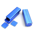 Diy blue color extruded aluminum project box