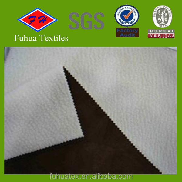 suede bonding cashmere fabric for clothing/winter clothing fabric/colthing material