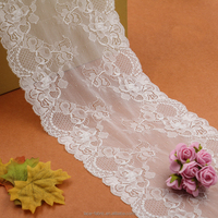 white wedding bridal lace trim bulk lace trim for wedding decoration and veil
