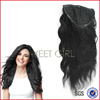 Charming quality big body wave 100% remy human hair half wig extension in black #1 color