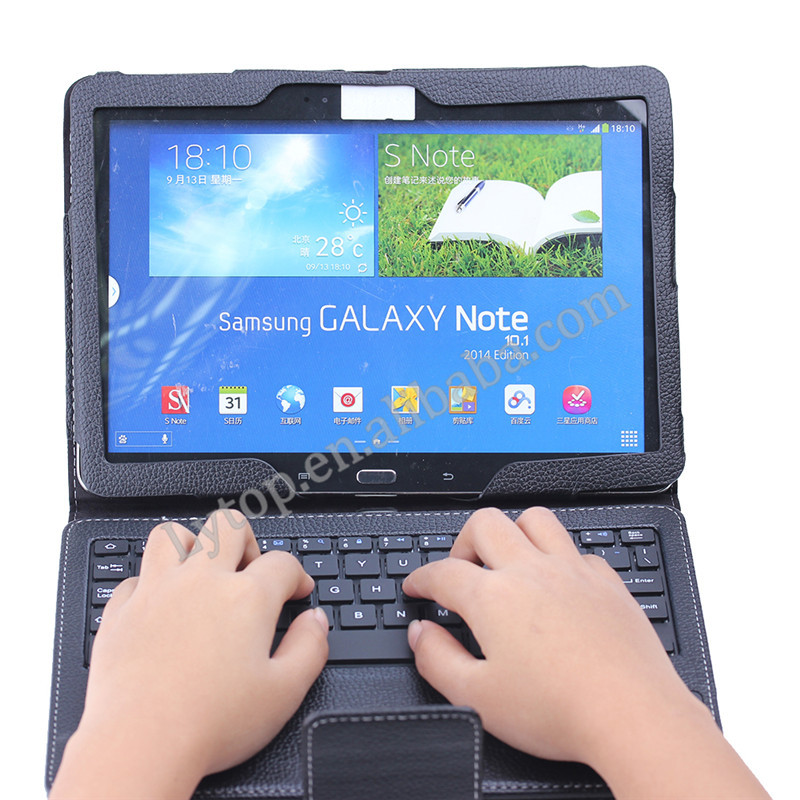 "Bluetooth Keyboard for Samsung GALAXY Note 2014 Edition P600 10.1"",Leather Case For Samsung Galaxy Note 10.1"