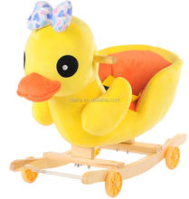 Yellow duck kids rocking chair with cheap price wooden rocking chair