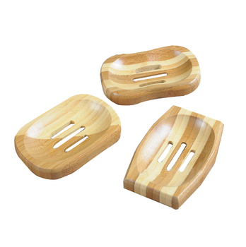 Three simple beauty bamboo soap dish