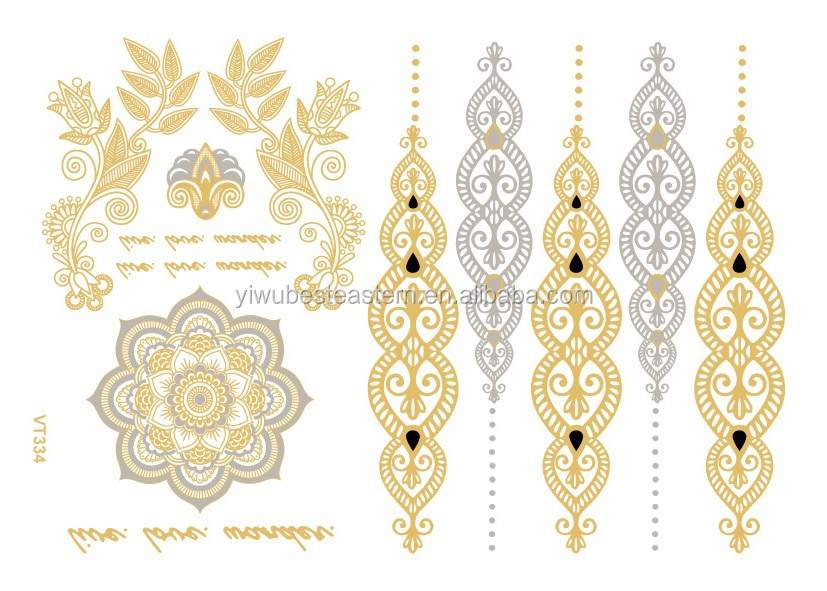 Jewelry Inspired Custom Flash Tattoo, Promotional products china, Custom Temporary Tattoos, Metallic Flash tattoos/