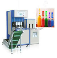 Semi Automatic Pet bottle Blowing Machine,4 cavity auto feed the preform,auto dropping the bottle