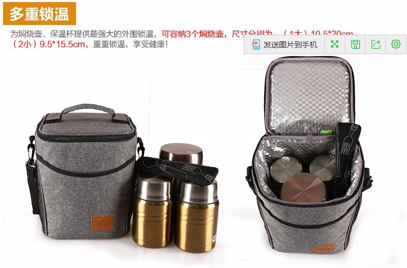 CHARMCCI high quality aluminium foil beer picnic insulated cooler bag for baby milk