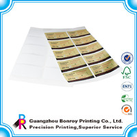 High Quality Matt Surface Small Size CMYK Adhesive Lable Printing