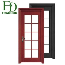 UPVC bathroom doors pvc profile plastic doors