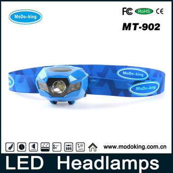2016 Top-sale LED Rechargeable Headlamp High Lumen Waterproof fishing lights with USB Charger