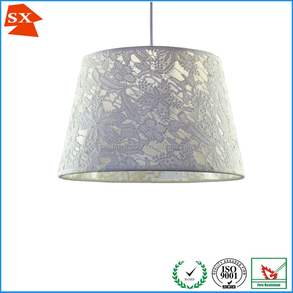 Jigsaw drum lace fabric christmas decoration pendant lamp shade