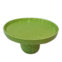Unique Pineapple Round Shape Ceramic Cake Plate Stand