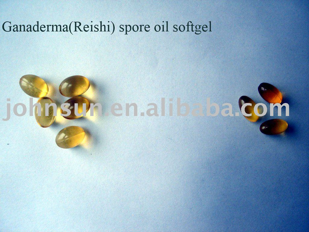 Reishi spore oil softgel
