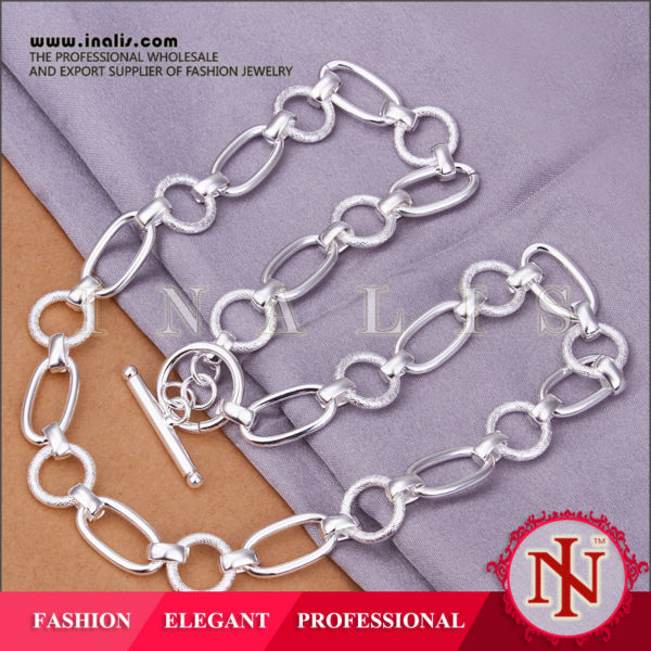 Elegant silver plated imitation jewelry for women N341