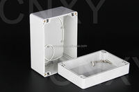 small white abs IP65 waterproof box as switch box and juntion box for pcb and electronics