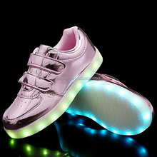 men casual shoes fashion kids led shoes sports shoes