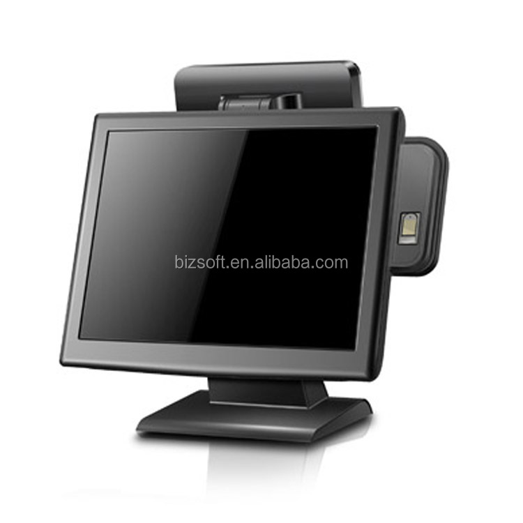 Bizsoft Most popular LCD display pos system POSTOUCH BX15 touch pos terminal with ID card reader