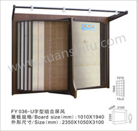 U style combined screen / display rack stand / showroom / exhibition furniture for ceramic tiles
