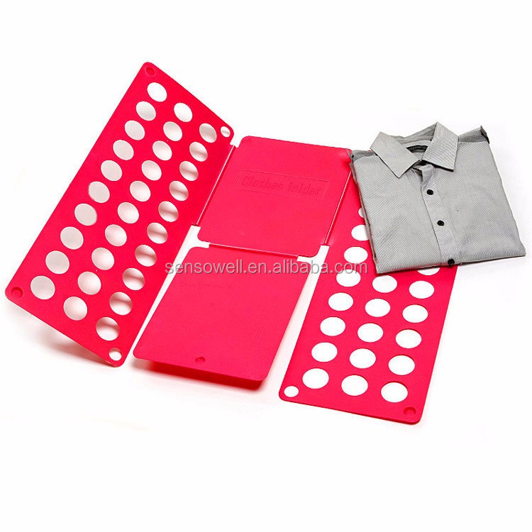 Factory Wholesale Adult Size Shirt Clothes Folding Board, Flip Fold Clothes Folder