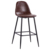 GY-9003 Antique simple restaurant chair solid gloss finish chair seat bar chair stool living room furniture