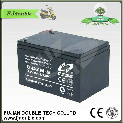 12V9AH 6-DZM-9 Battery sealed Maintenance free rechargeable storage e-bike battery 48v