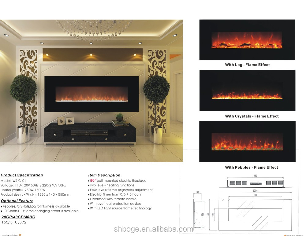 CSA wall mounted electric fireplace Canada with mould