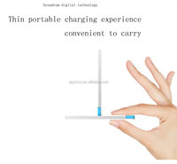 2500mAh Slim smart Credit Card Shape Portable smartphone Power Bank Charger battery power booster