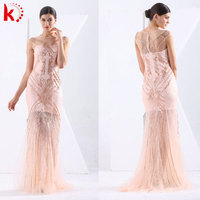 Magnificent New Coming Women Wedding Gown Cap Sleeve Mermaid Luxury Arabic Evening Dresses Long