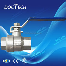 "New arrival 3/4"" SS304 female 2-pc internal thread bsp/bspt /npt /G ball valve for water,oil and gas"