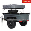 factory Steel Material and Full Trailer Type small camping trailer with roof top tent