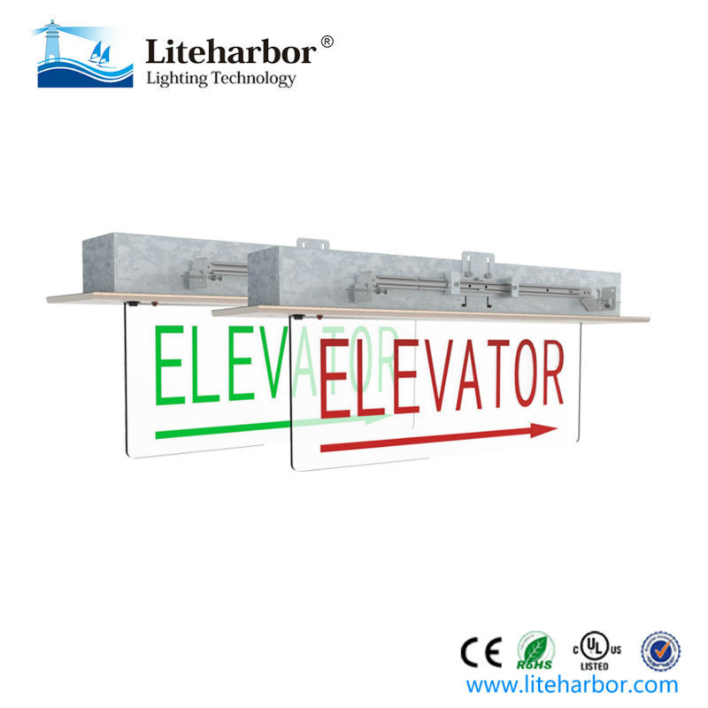 Acrylic material and aluminum base edge lit led elevator emergency light
