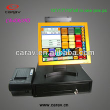 17'' good quality cash register with MSR scanner for large-scale sales, star-rated hotels, restaurants, travel agencies, phar
